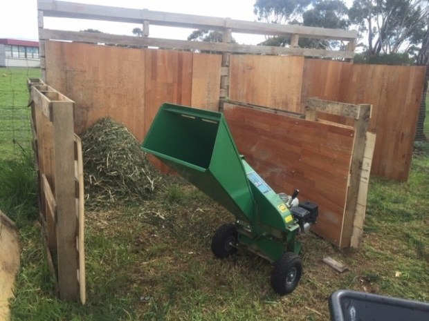 Compost bins used