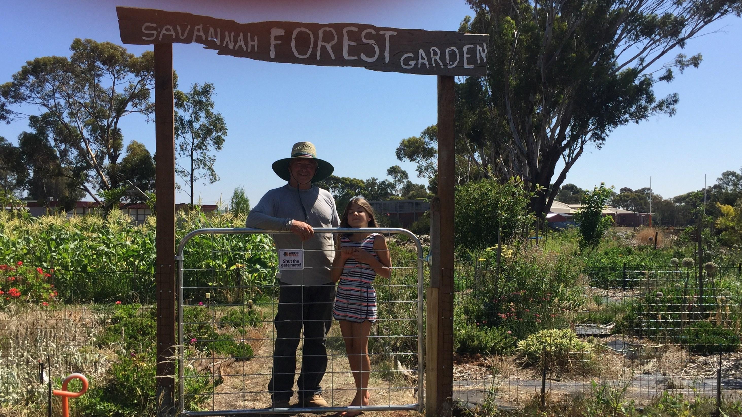 Sign – Savannah forest garden