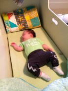 Napping Alone in the Heirloom Bassinet