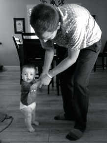 Dancing with dad while making dinner