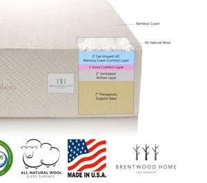 Brentwood Home 13-Inch Gel HD Memory Foam Mattress
