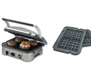 Cuisinart GR-4N 5-in-1 Griddler and Waffle Plates Bundle