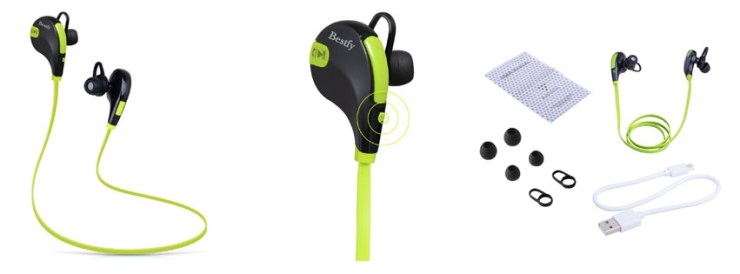 Bestfy Bluetooth 4.1 Wireless Sports Headphones Noise Cancelling
