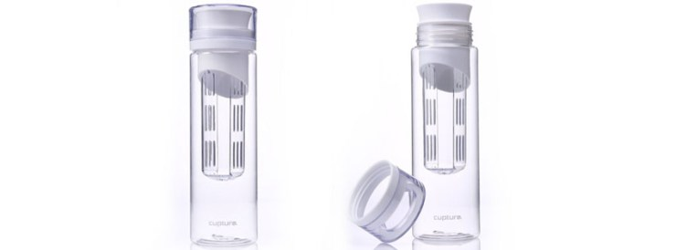 Cupture White Fruit Infuser Water Bottle