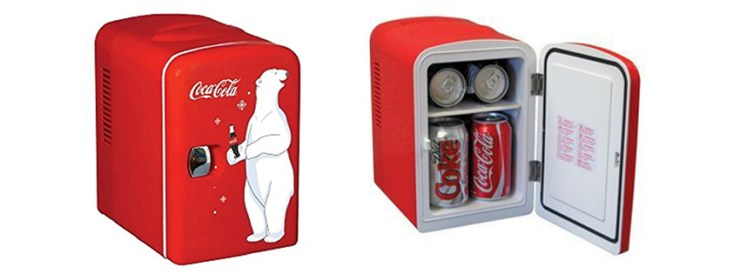 Koolatron KWC Coca Cola Personal Mini Fridge