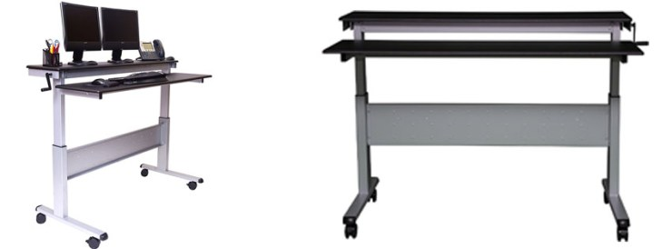 Crank Adjustable Height Sit to Stand Up Desk