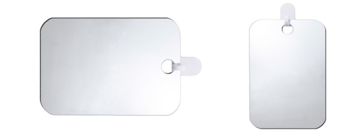 Deluxe Shave Well Fog free Shower Mirror