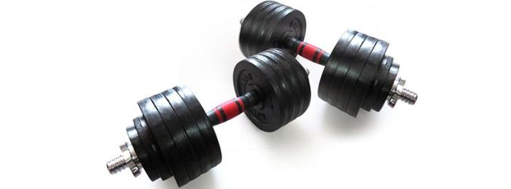 BalanceFrom Cast Iron Adjustable Dumbbells