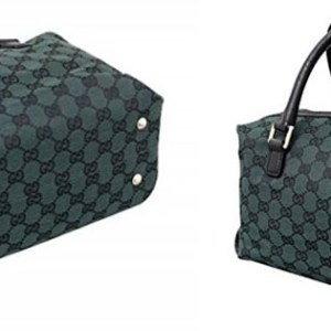 Best Gucci Dark Green Canvas Joy Boston Handbag