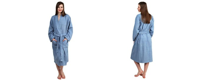 Best TowelSelections Turkish Cotton Terry Kimono Bathrobe Magnolia Collection