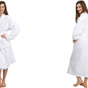 Best TowelSelections Turkish Cotton Terry Shawl Bathrobe Jasmine Collection