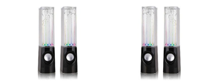 Black Dancing Water Fountain Light Sound Speaker