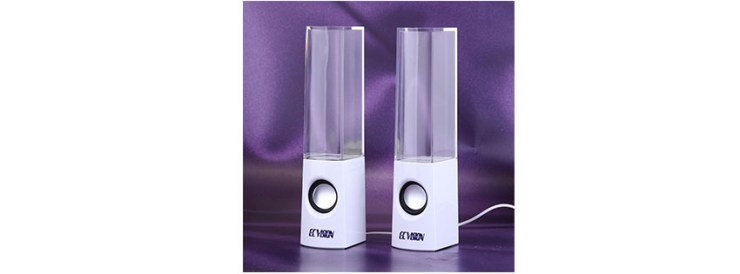 ECVISION Plug and Play Multi-Colored Illuminated Fountain Water Speakers