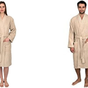 TowelSelections Turkish Cotton Terry Kimono Bathrobe Lilac Collection