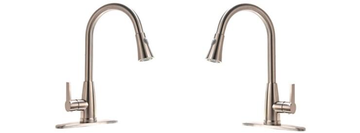 VAPSINT Brushed Nickel Pull-Down Faucet