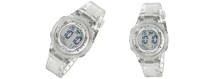Armitron Sport Womens Digital Clear Jelly Strap Watch