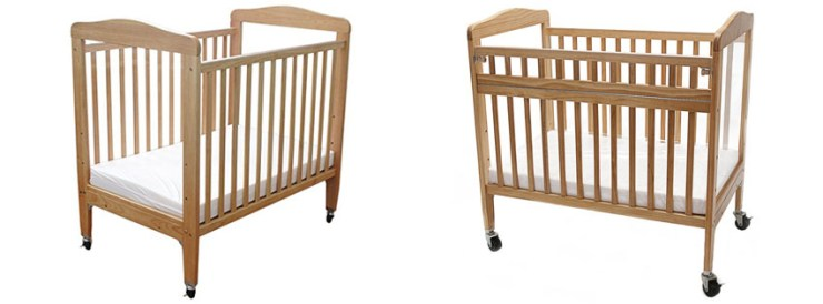 LA Baby Compact Non-folding Wooden Window Crib