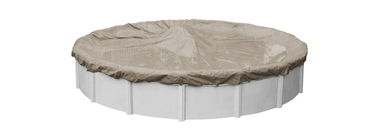 Pool Mate Sandstone Winter Cover for Foot Round Above Ground Swimming Pools (2)