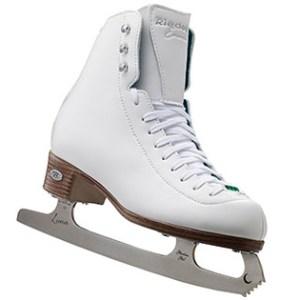 Riedell Emerald White Ladies Figure Skate