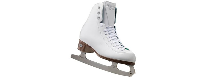 Riedell Emerald White Ladies Figure Skate