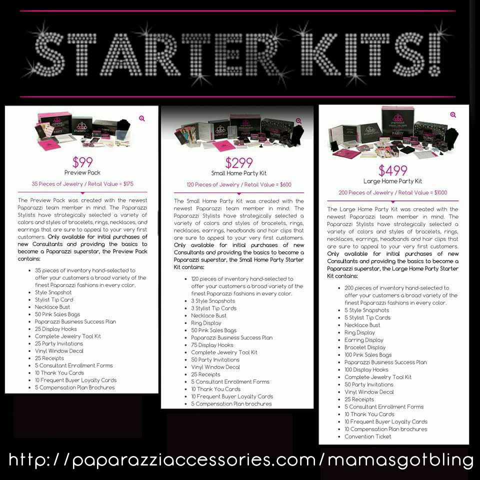 Paparazzi Starter Kits| Paparazzi accessories |Women's fashion accessories |women's jewelry