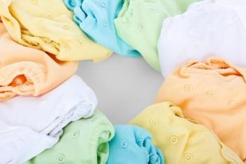 Stoffwindeln pastellfarben