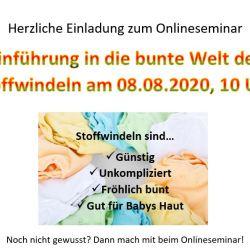Einladung zum Stoffwindelseminar 08.08.2020