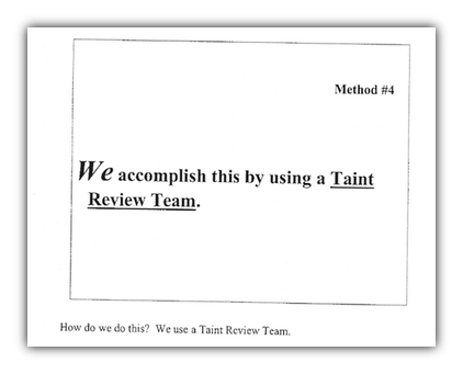 Taint Review Team 1