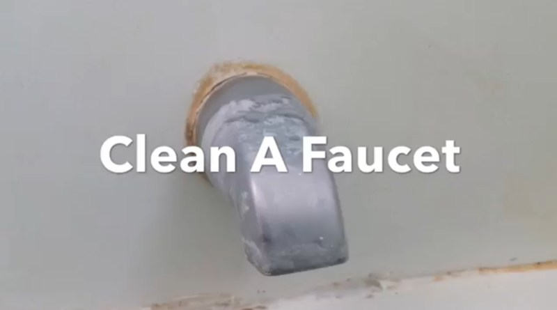 Clean a faucet
