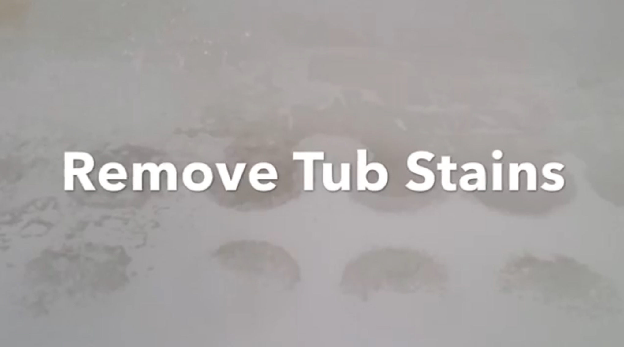 Perfect One Simple Trick To Remove Bathtub And Shower Stains.