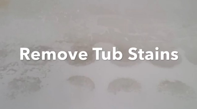 Remove bathtub and shower stains