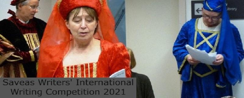 Saveas Writers' International Writing Competition: (Deadline 31 August 2021)