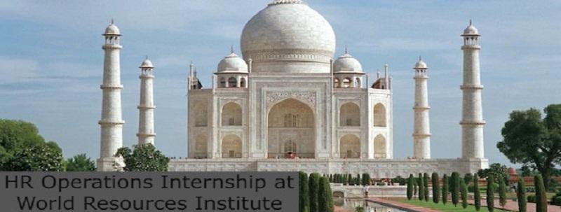 HR Operations Internship at World Resources Institute: (Deadline 30 June 2021)