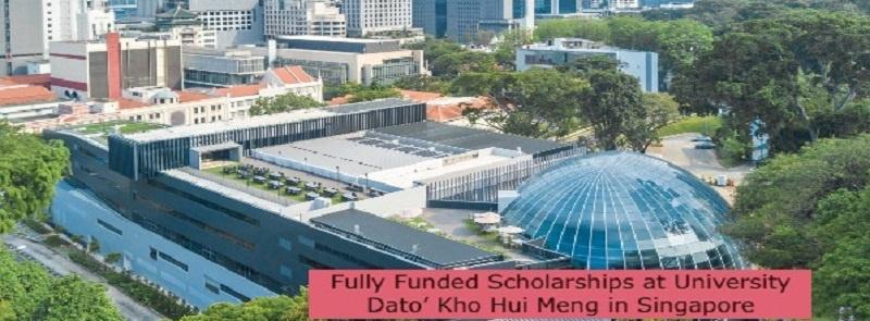 Fully Funded Scholarships at University Dato' Kho Hui Meng in Singapore: (Deadline15 July 2021)