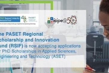 The Regional Scholarship and Innovation Fund (RSIF) PhD Scholarships: (Deadline 30 September 2021)