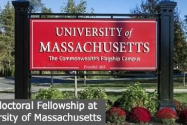 Postdoctoral Fellowship at the University of Massachusetts: (Deadline 30 September 2021)