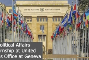 Political Affairs Internship at United Nations Office at Geneva: (Deadline 10 March 2022)