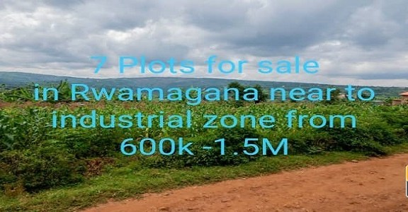 7 Plots for Sale, Location; Rwamagana-Near of industrial zone, On Best price for every Plot