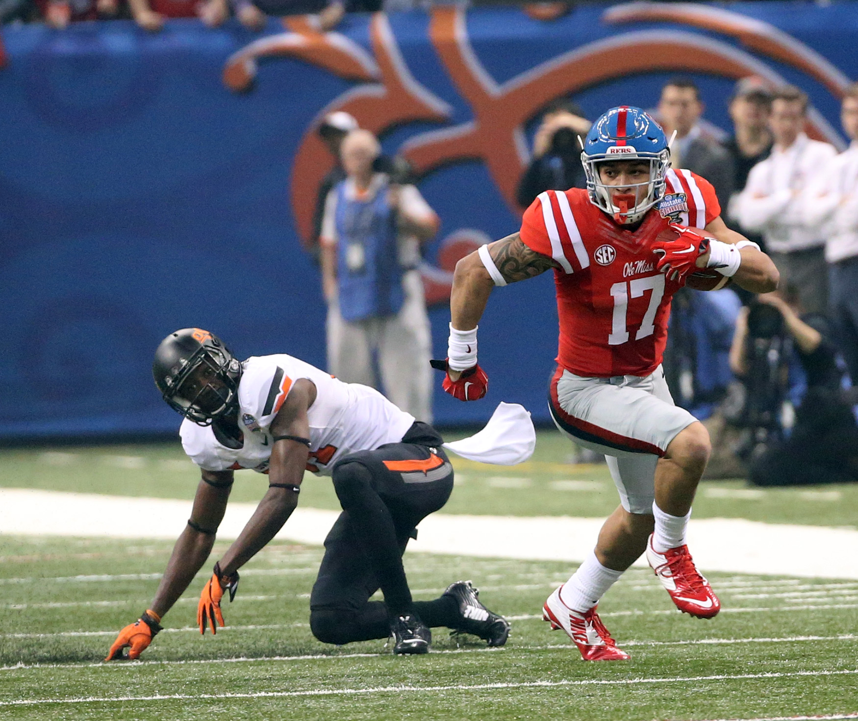 Ole Miss Football vs Oklahoma State at the 2016 AllState Sugar Bowl in New Orleans, LA.