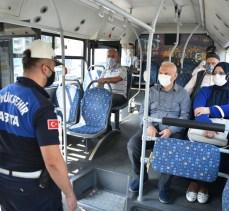 Bursa'da toplu taşımada maske denetimi