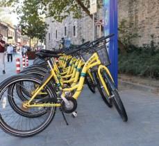 Paylaşımlı bisiklet durağı oluşturuldu