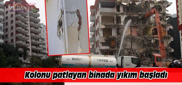 Kolonu patlayan Sardunya Sitesi yıkılıyor!