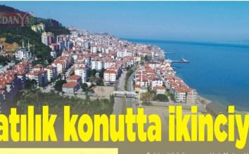 Satılık konutta Mudanya ikinci sırada