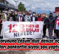 Bursa'da CHP'li başkanlar müsilaj için denize açıldı
