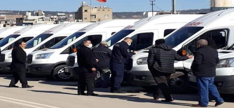 Kilis Zabıtası personel servis araçlarını denetledi