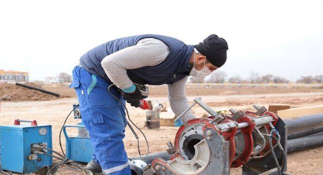 Aksaray'da imara açılan bölgelerde altyapı çalışması