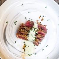 Seared Yellowfin Tuna with Wasabi Aioli