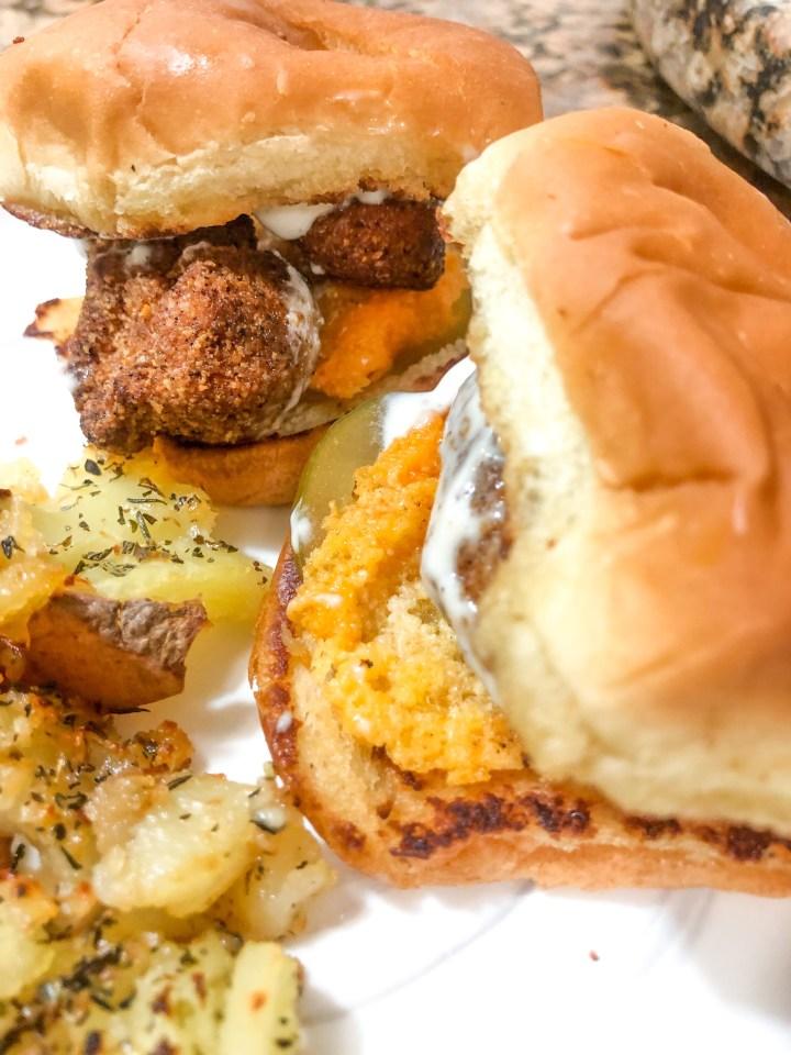 Gluten Free CopyCat Chick-Fil-A Sliders with Garlic Aioli