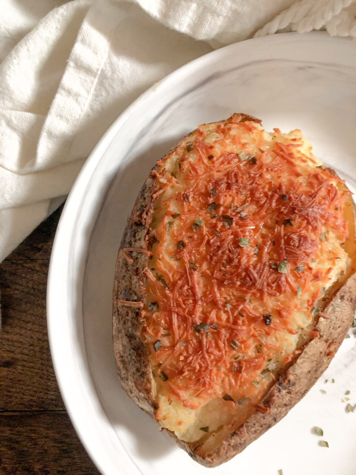Goat Cheese & Chive Twice Baked Potatoes