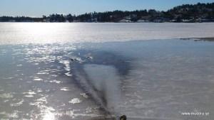 Muddring på is